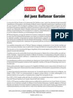 Apoyo juez Garzón