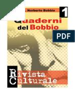Quaderni Del Bobbio Numero 1