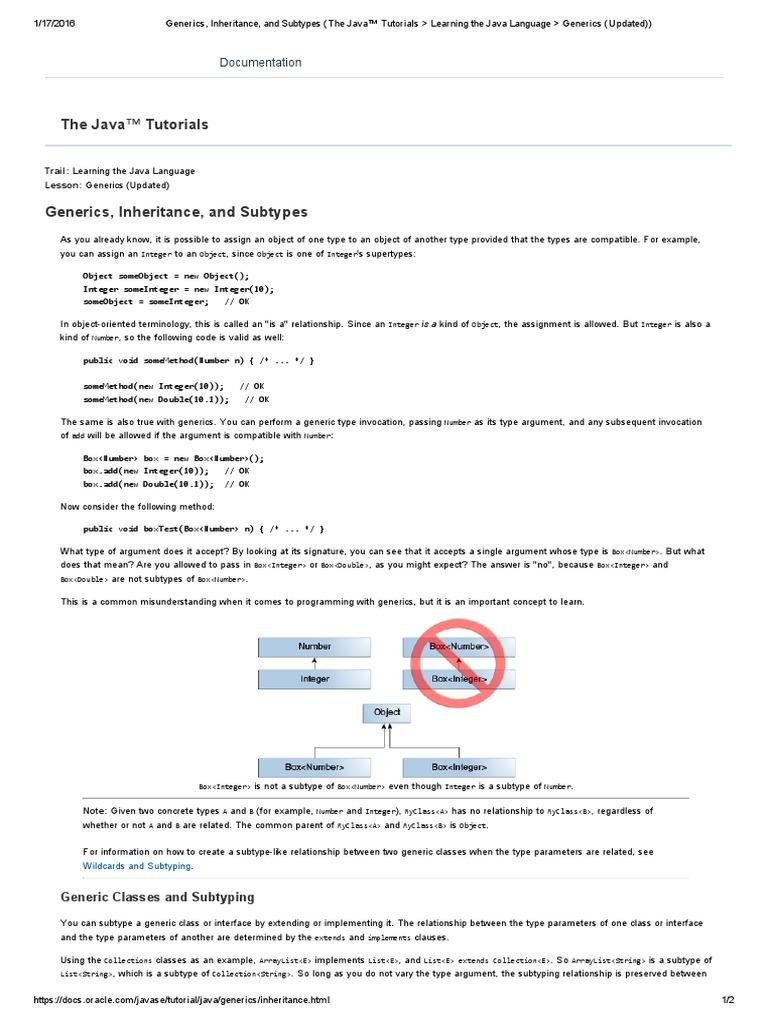 Generics inheritance and subtypes the java tutorials learning generics inheritance and subtypes the java tutorials learning the java language generics updated class computer programming parameter baditri Choice Image