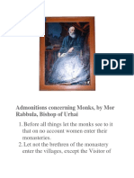 Admonitions to the Monks