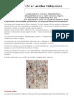 La Contaminación en Aceites Hidráulicos