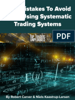TopTraders 9 Mistakes to Avoid When Using Systematic Trading Systems by Rob Carver and Niels Kaastrup Larsen