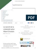 GÉNERIQUE - Le Secret de La Créativité Selon Albert Einstein