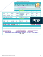 Tamilnadu Engineering Admissions - 2014