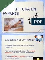 Los Criterios de La Escritura Eficaz en Español