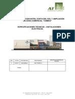 Especificaciones Técnicas - Proyecto Eléctrico de un Hotel