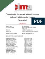 Investigacion de Mercado Sobre El Consumo de Papel Higienico en Los Hogares Panamenos