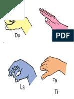 Curwen Hand Sign Flash Card