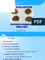 Physico-chemical Evaluation of Feeds