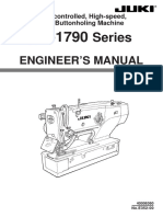 Instruction Manual Juki LBH-1790