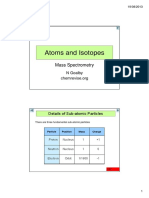 Atoms Isotopes Mass Spec