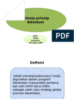 Prinsip Advokasi by;Melly Andriani