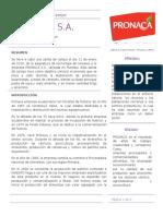 Informe de Salida de Campo PRONACA I