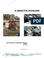 Micropile inspector guideline