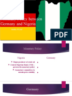 Monetary Policy Between Germany and Nigeria