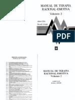 Ellis Manual de Terapia Racional Emotiva. Vol. II