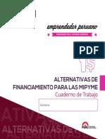 Cuaderno de Trabajo Alternativas de Financiamiento