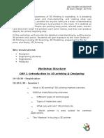 3D Printing & Designing Workshop Scheduling
