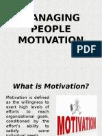 Managing People Motivation