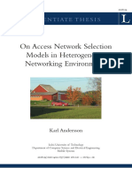 On Access Netowrk Selection Models in Heterogeneous Networki