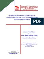 Determinacion de Caracteristicas Mecanicas de Edificaciones con losas Postensadas