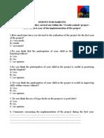Survey for Parents 1