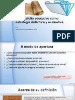 El Portafolio Educativo Estrategia de Evaluación