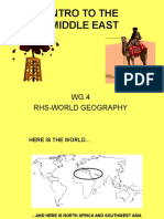 Introduction to middle east