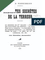 Fleischmann Hector - Anecdotes Secrètes de La Terreur