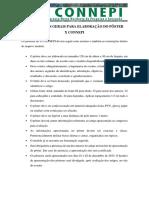 Normas e Orientações Gerais Para Apresentação Do Pôster Do Artigo Connepi 2015