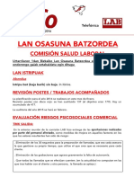 INFO-Lan Osasuna Urtarrila 2016