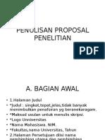 Penulisan Proposal Penelitian