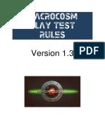 Macrocosm Play Test Rules V1.3