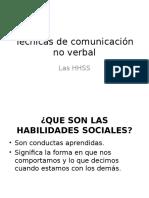 Técnicas de Comunicación No Verbal