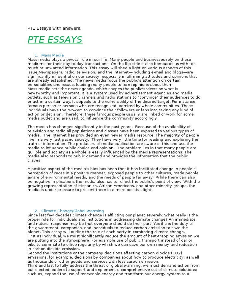Writing essay template for pte