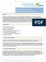 Academic Training Policy 2015 2016