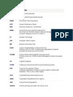 acronym list special education