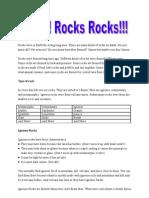Rocks Report