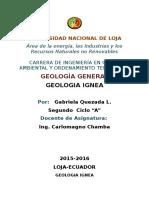 geologia ignea