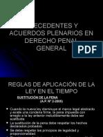 Precedentes y Acuerdos Plenarios en Derecho Penal General