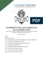 Interpretacion Judio Mesianica de Las Escrituras