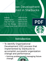 Organization Development Implemented in Starbucks