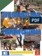 FAR WEST TEAM - 2016 Training Calendar