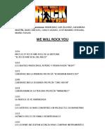 We Will Rock You Libreto