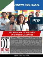Intern Job (Sherwin Williams)