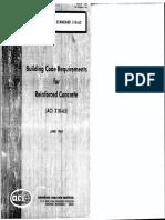 ACI 318 63 Building Code Requirements for Reinforced Concrete