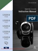 Canon Legria Fs307 User Guide