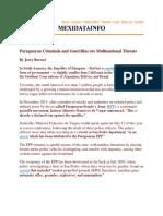 Paraguayan Criminals and Guerrillas Are Multinational Threats