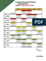 Jadwal Pelajaran Produktif Semester Genap 2010