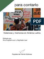 Vivir Para Contarlo - Violencias y Memorias en America Latina